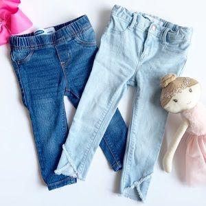 Old Navy Girls Skinny Jeans & Jeggings Set, EUC